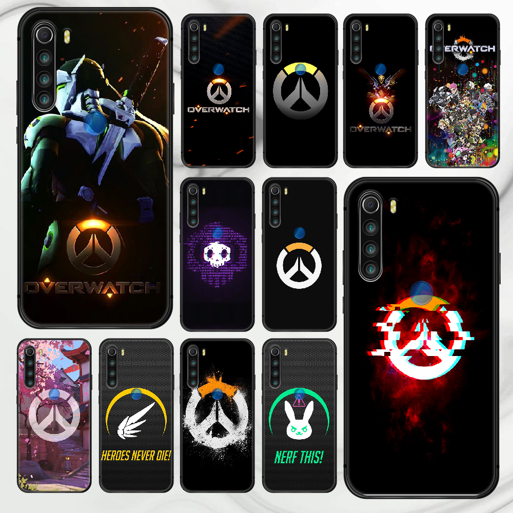 Overwatch OW game Phone Case Cover Hull For XIAOMI Redmi 7 7a 8 8a 9 9a NOTE 6 7 8 8t 9 9s Pro Max 4X black Cover Silicone Shell