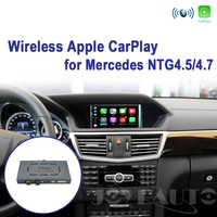 Joyeauto WIFI sans fil Apple Carplay Android Auto miroir A B C E G GL ML classe pour Mercedes NTG4.5 4.7 voiture jouer Airplay iOS 13