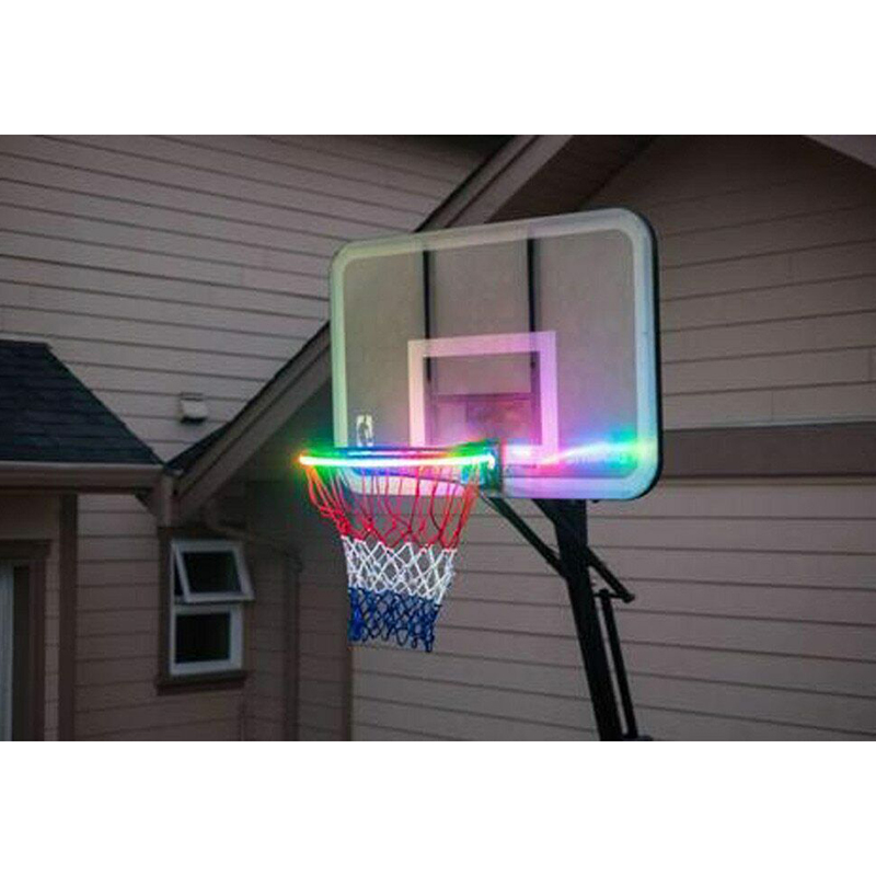 Newest Basketball Rim LED Solar Light Playing At Night Light Boys Bedroom Home Decor