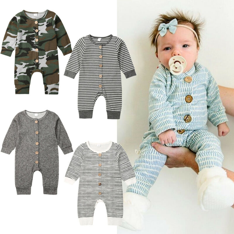 Long Sleeve Newborn Boy Romper One Piece Jumpsuit Rompers For Infant Baby Boy