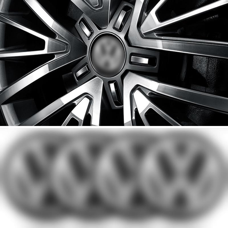 4pcs Car Tire Wheel Center Cover Sticker Car Hubcaps Sticker For Volkswagen Polo Golf 3 4 5 6 7 B4 B5 B6 B7 B8 Car Accessories