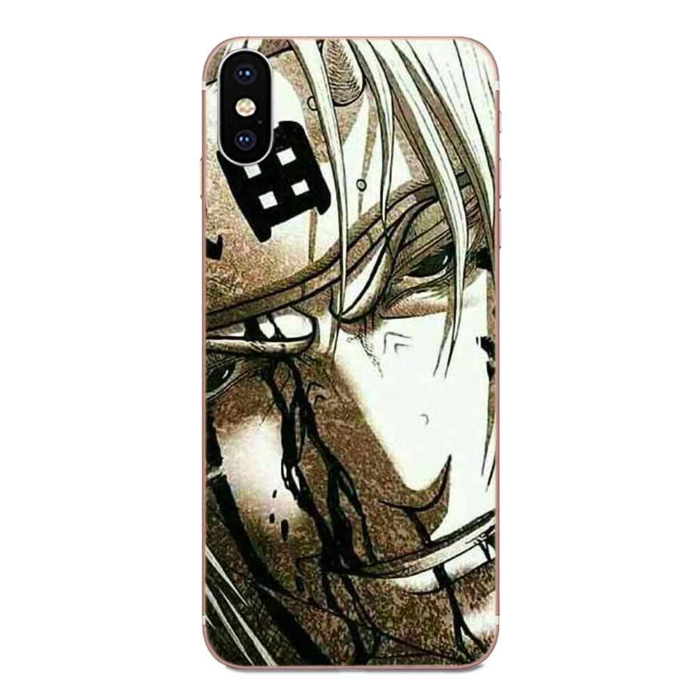 Para Apple iPhone 11 Pro X XS Max XR 4 4S 5 5C 5S SE 6 6S 7 8 Plus fundas blandas figura de acción Naruto estilo de una pieza