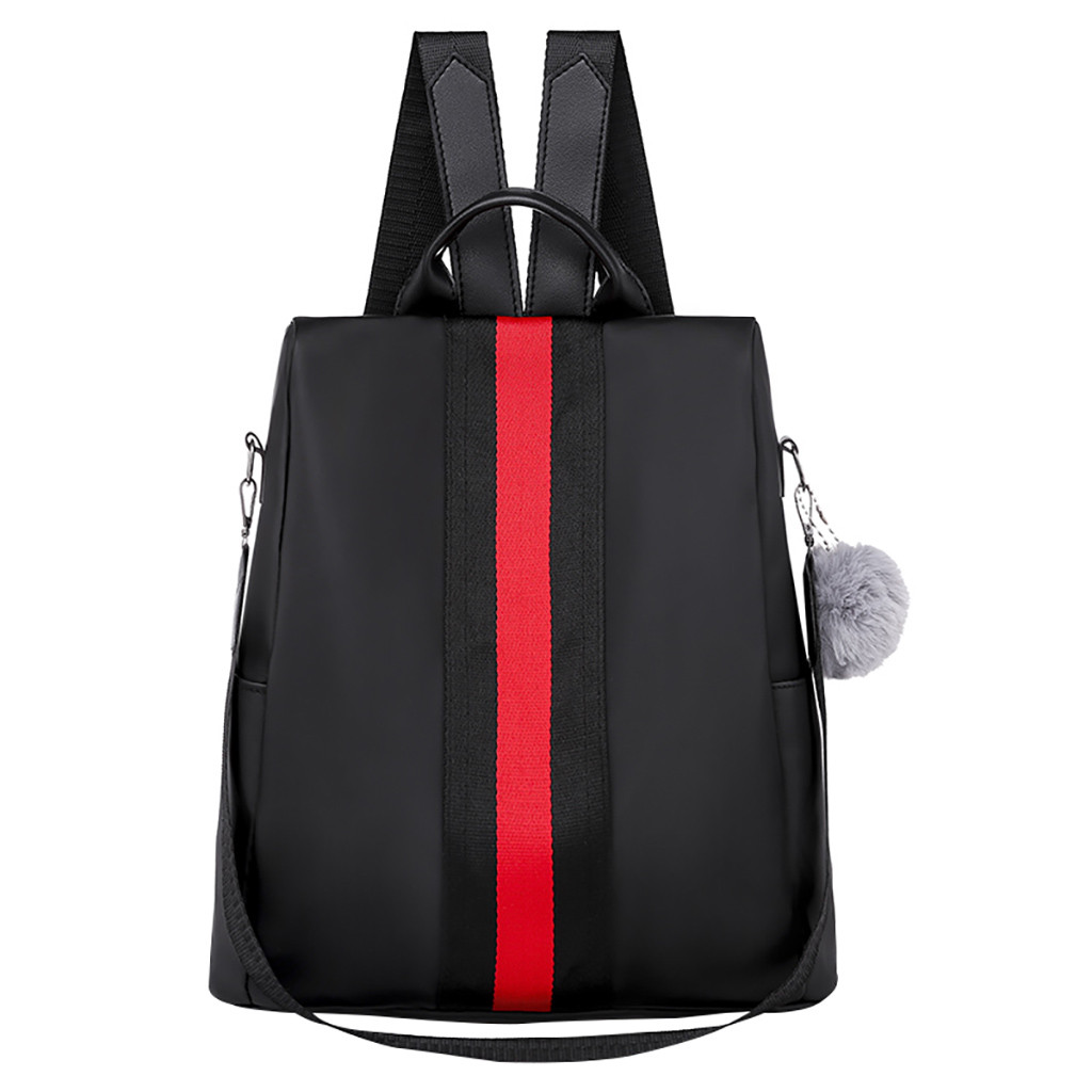 Soft Lightweight Oxford  Fashion Women Oxford Waterproof Backpack Anti-Theft Large Capacity Stripe Bags Women's Shoulder Bag