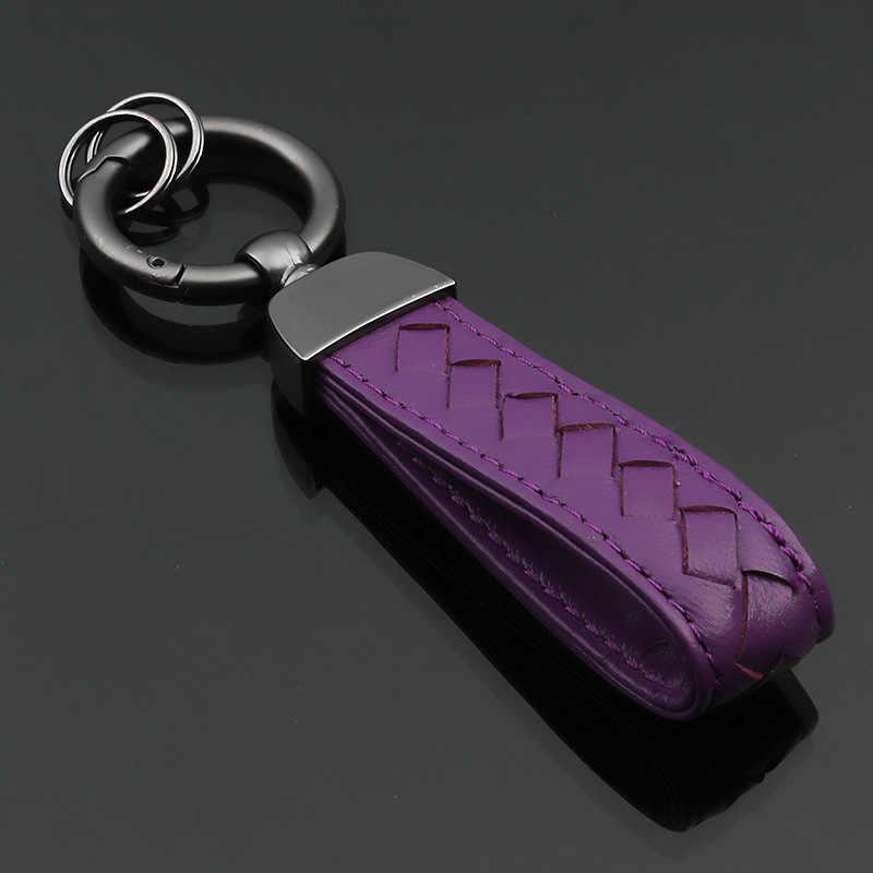 LLavero de Metal + cuero para coche llavero para Hyundai Lexus Audi Mercedes Ford Mazda Jaguar Skoda, Etc.
