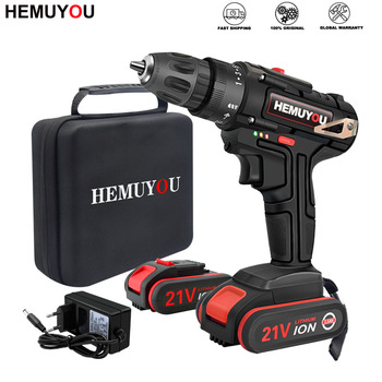 21V Power Tools Rechargeable Lithium Battery Mini Cordless Electric Drill Multifunction Electric Screwdriver 2-Speed +2 Drill xltown25v 2000ma impact drill rechargeable lithium battery electric screwdriver multifunction cordless household electric drill