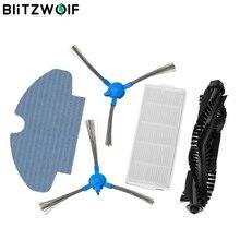 5 قطعة BlitzWolf فراغ نظافة بدائل ل BW VC2 الذكية جهاز آلي لتنظيف الأتربة الرئيسية فرشاة * 1 الجانب فرش * 2 فلتر HEPA * 1 خرقة * 1