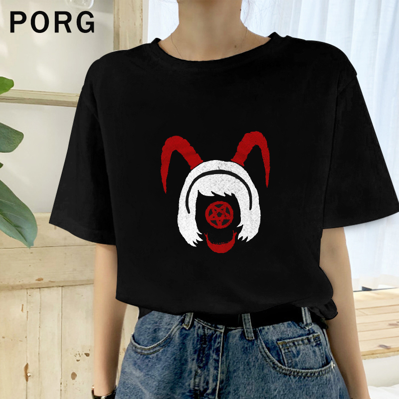 The Chilling Adventures Of Sabrina Halloween Day P Punk Summer Harajuku Aesthetic Tshirt Ulzzang Gothic Women Clothes