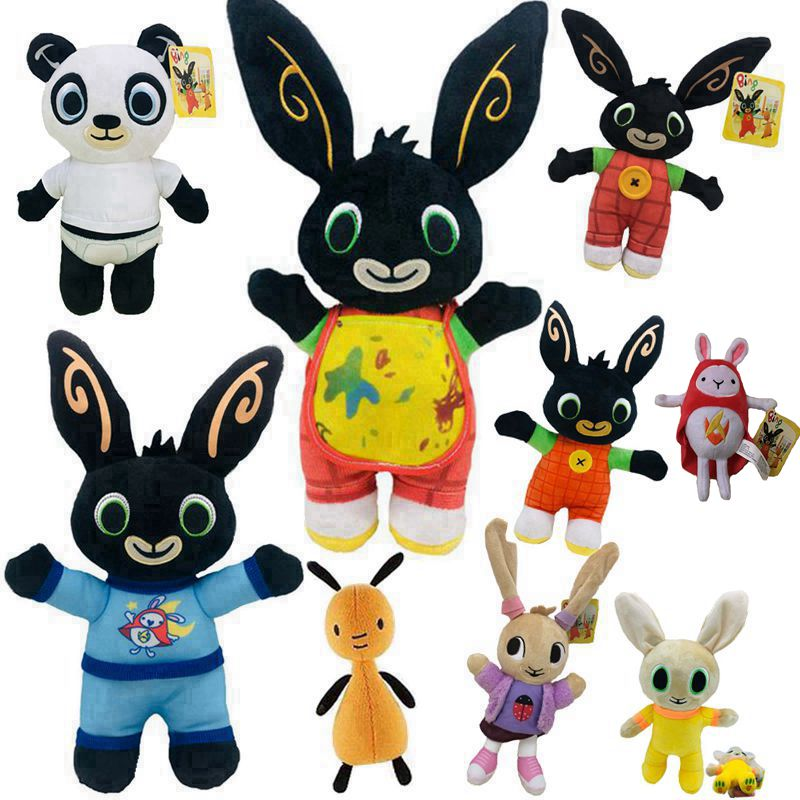 18-36cm Cartoon Bing Bunny Rabbit Plush Toy, Fnaf Bing Friends Flop Sula Elephant Panda Bear Stuffed Animal Plush Doll For Girls