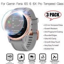 3 sztuk inteligentny zegarek folia ochronna dla Garmin Fenix 5 5S Plus 6S 6 6X Pro okrągłe krawędzie szkło hartowane folia ochronna premium