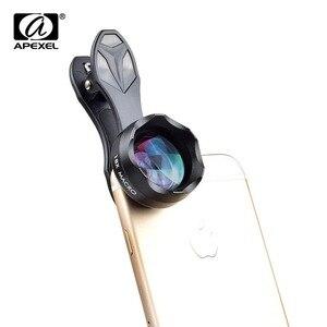 APEXEL telefon obiektyw aparatu HD 18X makro obiektyw telefonu z klipsem dla IPhone Xiaomi i więcej inteligentny telefon