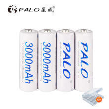 2-16 pcs AA 3000mAh NI-MH rechargeable battery 1.2V AA 2A nimh ni mh ni-mh 100% original high capacity current batteries original ni pci can