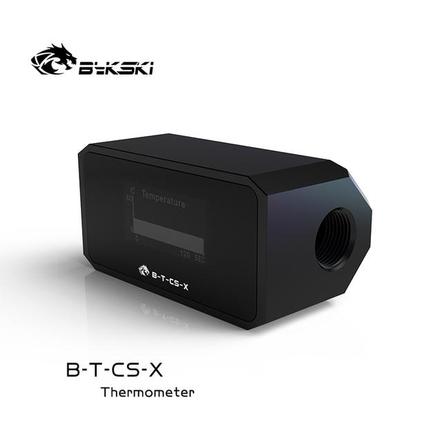 Bykski Water Cooler System Monitor for Temperature Meter / Water Flow OLED Display Double G1/4'' Flow Error Alarm, B-T-CS-X 4