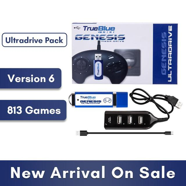 HOBBYINRC 813 Games True Blue Mini Ultradrive Pack for Genesis / for MegaDrive Mini 2019 New Arrival 2 player Games