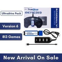 HOBBYINRC 813 משחקים אמיתי כחול מיני Ultradrive חבילה עבור Genesis/עבור MegaDrive מיני 2019 חדש הגעה 2 נגן משחקים