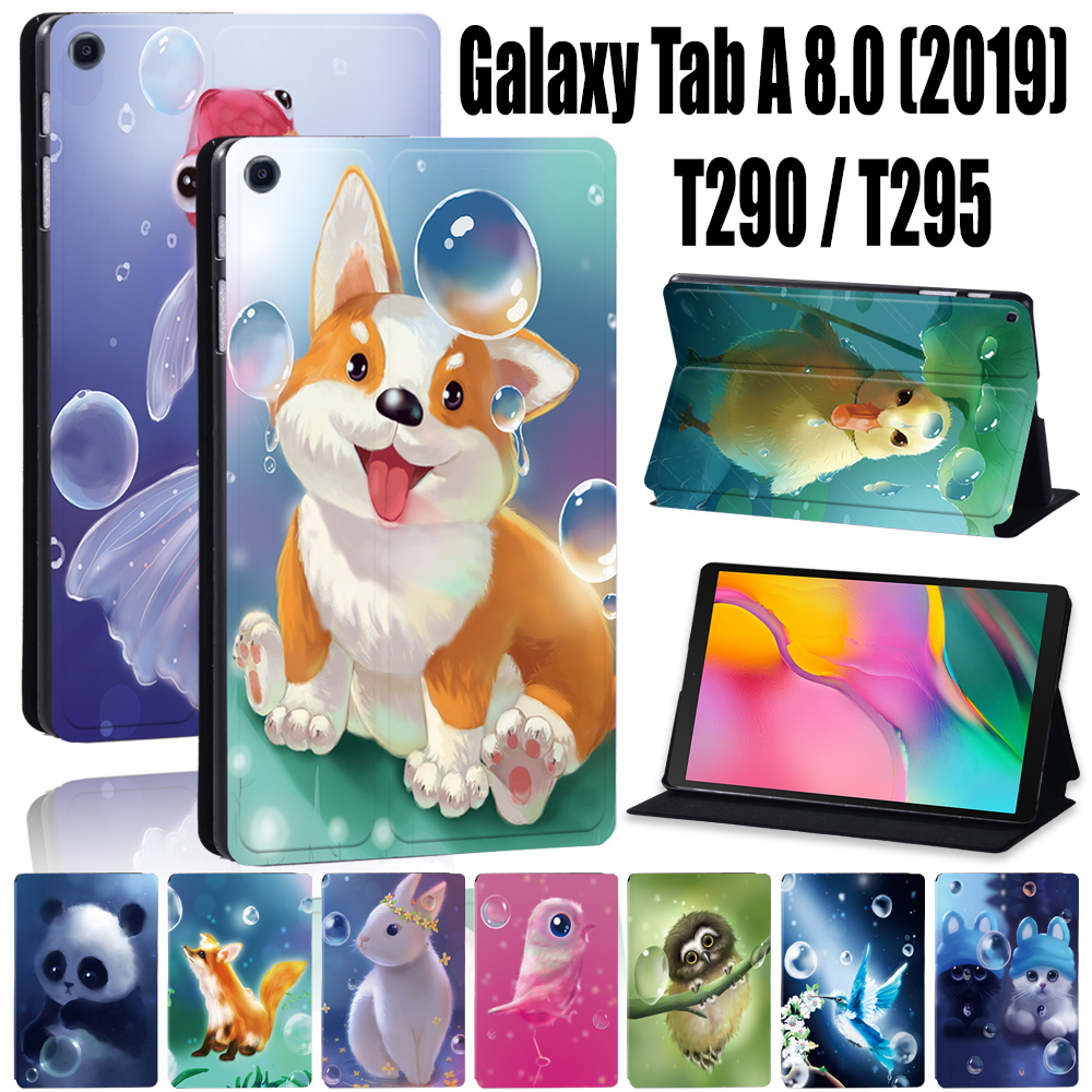 Funda protectora con soporte para tableta Samsung Galaxy Tab A T290/T295 (2019), 8,0 pulgadas, polipiel, Stylus gratis