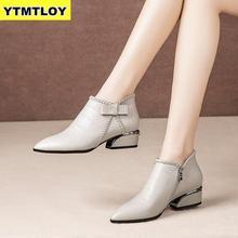 Plus Size 42 Ankle Boots Women Platform Lace Up Buckle Shoes