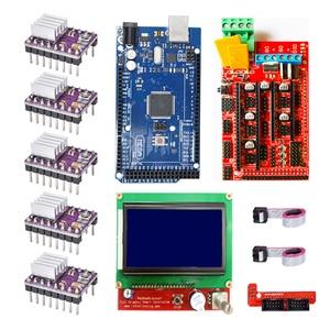 Image 1 - CNC 3D Printer Kit for Arduino Mega 2560 R3 + RAMPS 1.4 + LCD 2004 +A4988 Stepper Driver