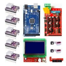 CNC Kit imprimante 3D pour Arduino Mega 2560 R3 + rampes 1.4 + LCD 2004 + A4988 pilote pas à pas