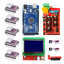 Cnc 3D プリンタキット arduino のためのメガ 2560 R3 + ramps 1.4 + 液晶 2004 + A4988 ステッピングドライバ