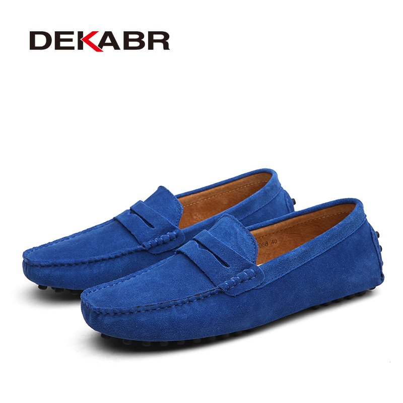 DEKABR 2020 New Arrival Men Driving Moccasins Genuine Leather Loafers Casual Fashion Wedding Men Footwear Large Size 38~50 5