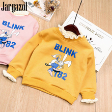 Kids Girls Sweat Shirt Long Sleeve Fashion Cartoon Outfits for Baby Kids Winter Children Clothes Lovely Rabbit Printed Shirts