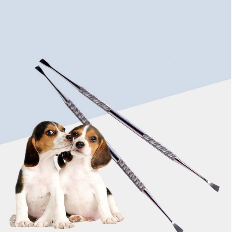 Stainless Steel Double Ended Dental Calculus Removal Tool Tooth Scaler For Dogs And Cats