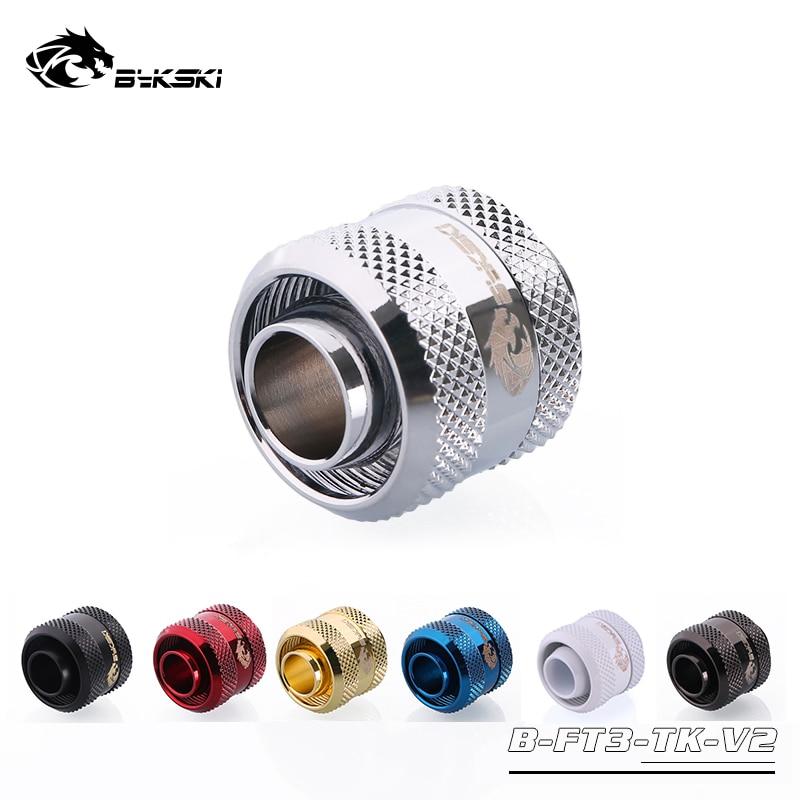 """Bykski Inside Diameter 10mm + Outside Diameter 16mm Pipes 3/8''ID + 5/8""""OD Soft Tube Fitting Hand Connector Fitting G1/4''"""
