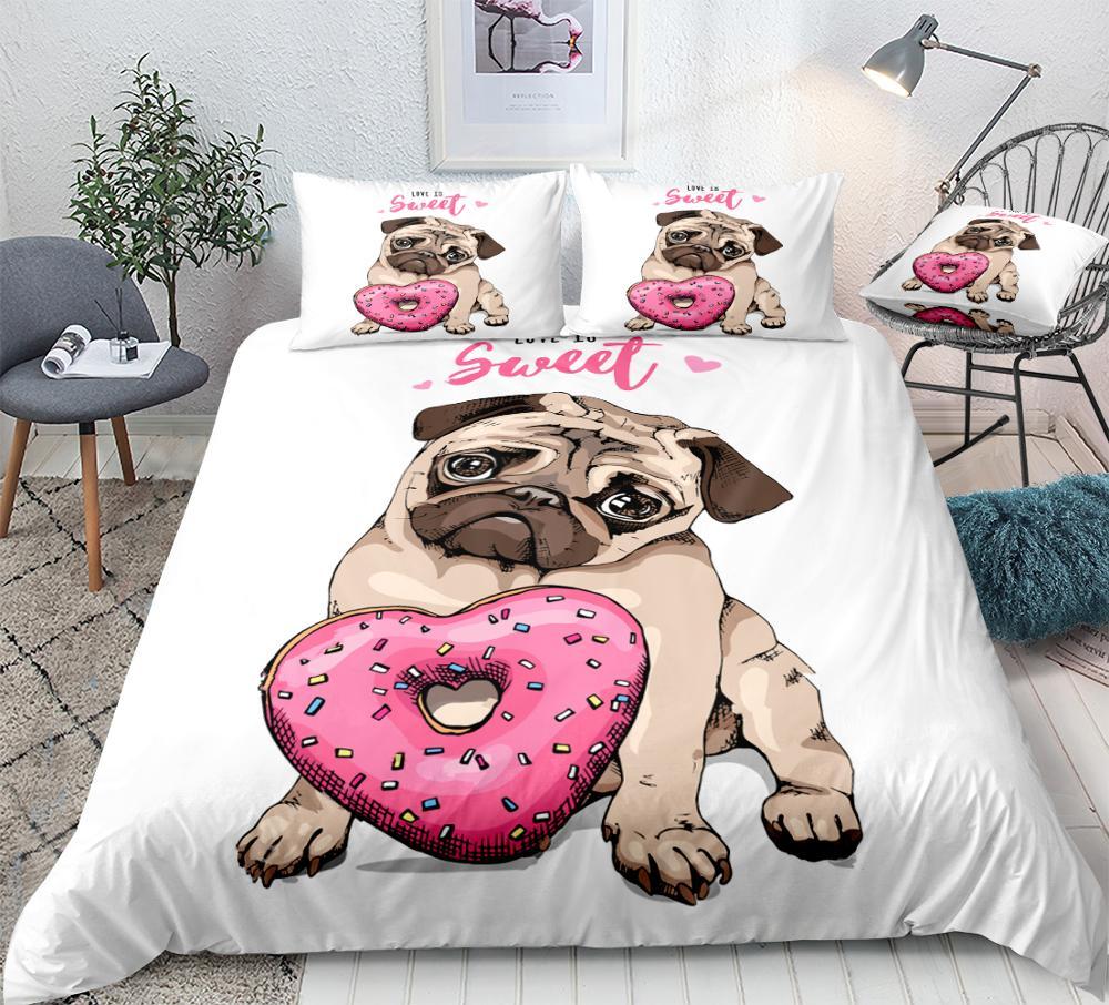 Pug ropa de cama conjunto de edredón de dibujos animados para mascotas conjunto de edredón blanco para niños lindo perro Donuts cama Set cachorro vaquero hogar Textiles Zapatillas de 9 estilos de dibujos animados para el hogar, zapatos cálidos para interiores, dormitorio, pantuflas de felpa, Pikachu Snorlax, Eevee, Gengar, muñecas Jigglypuff, zapatillas