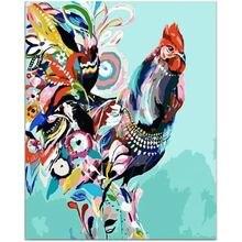 Цветная курица 40*50 см diy живопись по номерам картины оптом