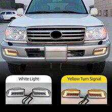 2PCS LED Nebel Lichter für TOYOTA LAND CRUISER 100 LC 100 1998-2008 DRL blinker Fahren Lampe nebel licht UZJ 100 FZJ 100