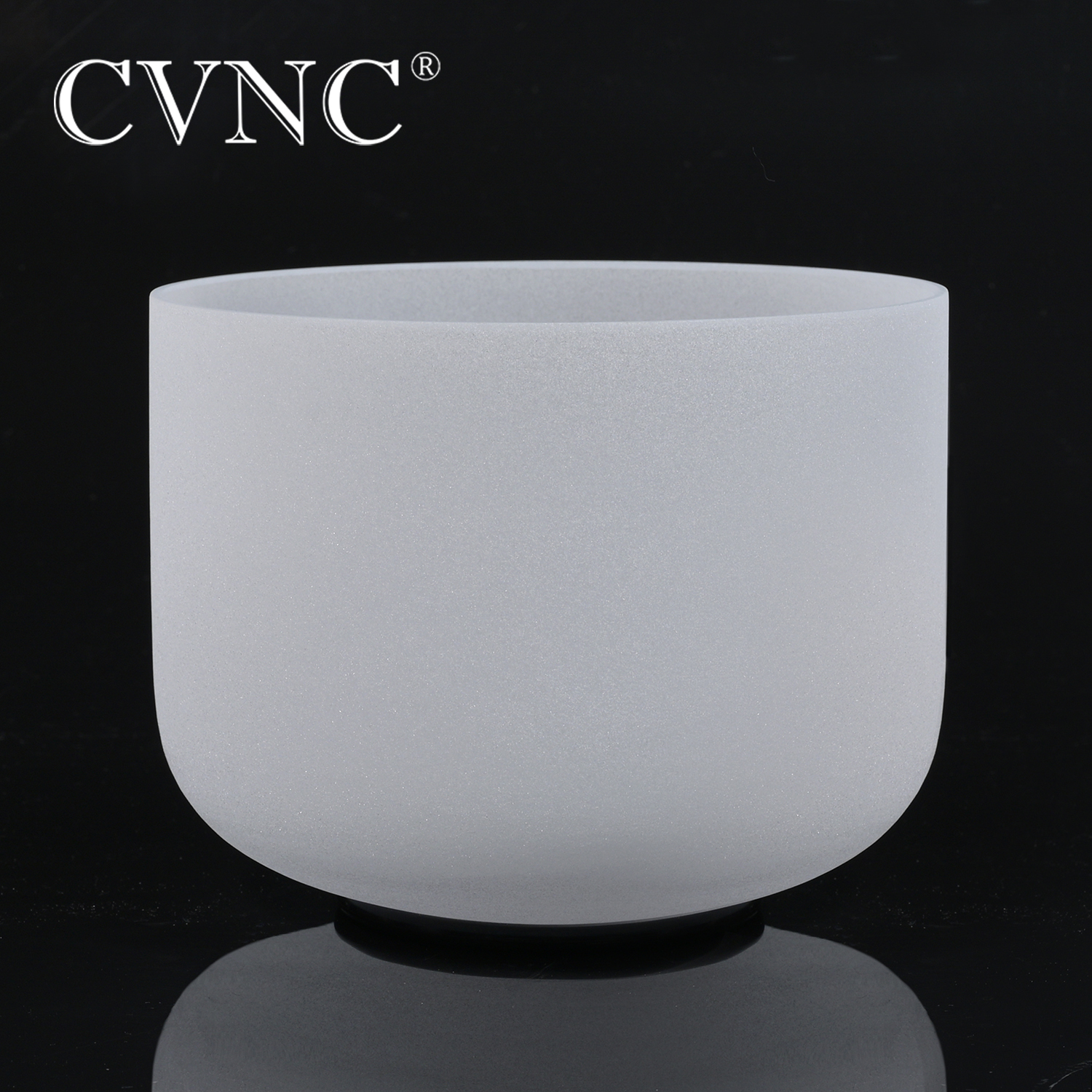 CVNC 7 Inch Any Note  C D E F G A B C# D# F# G# A#  Chakra  Frosted Crystal Quartz Singing Bowl