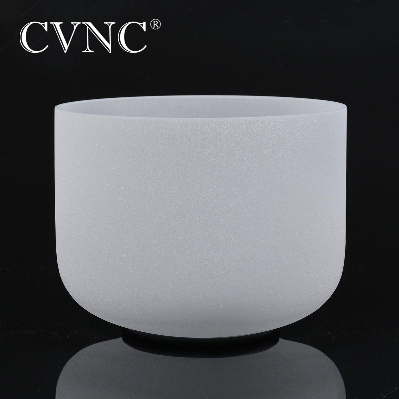CVNC 7 Inch Any Note  C D E F G A B C# D# F# G# A#  Chakra  Frosted Crystal Quartz Singing Bowl