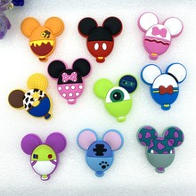 10pcs/lot CuteMickey personality balloonrubber cartoon flatback DIY hair bow accessories shower decoration Center Crafts