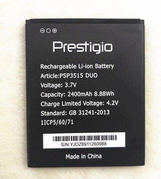 Новинка; 100% Высокое качество PSP3515 Батарея 2400 мА/ч, замена для Prestigio Muze U3 LTE PSP3515 DUO телефона + номер для отслеживания посылки