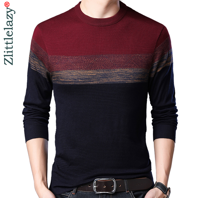 2019 Brand New Casual Thin Striped Knitted Pull Sweater Men Wear Jersey Mensluxury Pullover Mens Sweaters Male Fashions 90304