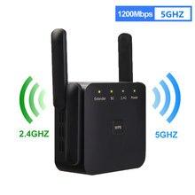 5ghz sem fio wifi repetidor 1200mbps roteador wi fi impulsionador extensor 2.4g 5g 802.11n longo alcance amplificador de sinal wi-fi repiter