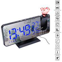 Alarm-Clock Digital Electronic Temperature-Humidity-Monitor-Projector Fm-Radio Snooze-Function