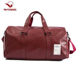 Wobag качественная Дорожная сумка из искусственной кожи для пары дорожные сумки ручной багаж для мужчин и женщин новая модная сумка для