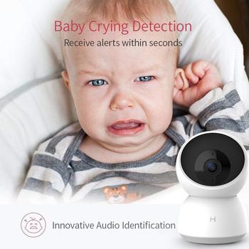Inteligentny aparat fotograficzny kamera internetowa 2K HD WiFi Pan-Tilt Night Vision 360 kąt kamera wideo widok dziecko Monitor bezpieczeństwa praca dla Mihome App tanie i dobre opinie XIAOMI 360° x 360° O 1 3MP CN (pochodzenie) 1080 p (full hd) MicroSD TF 115*78*78mm 0 239kg Horizontal 360 degree   Vertical 115 degree