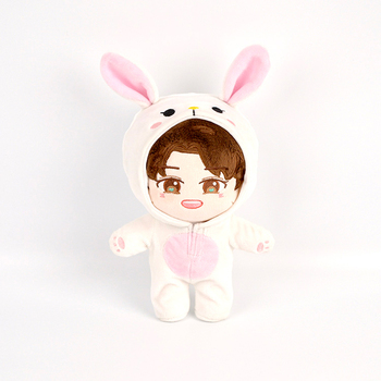 20cm Kpop EXO Baekhyun Chanyeol Xiumin Suho Sehun KAI D.O.Chen Plush Doll Toy with Doll Clothes Outfit Jumpsuit Free Shipping