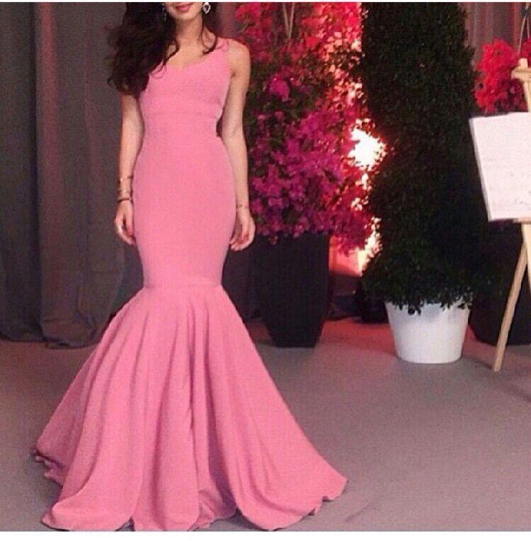 Arabic Dubai Middle East 2018 Floor-Length Scoop Ruched Mermaid Vestido De Festa Party Prom Bridal Gown Bridesmaid Dresses
