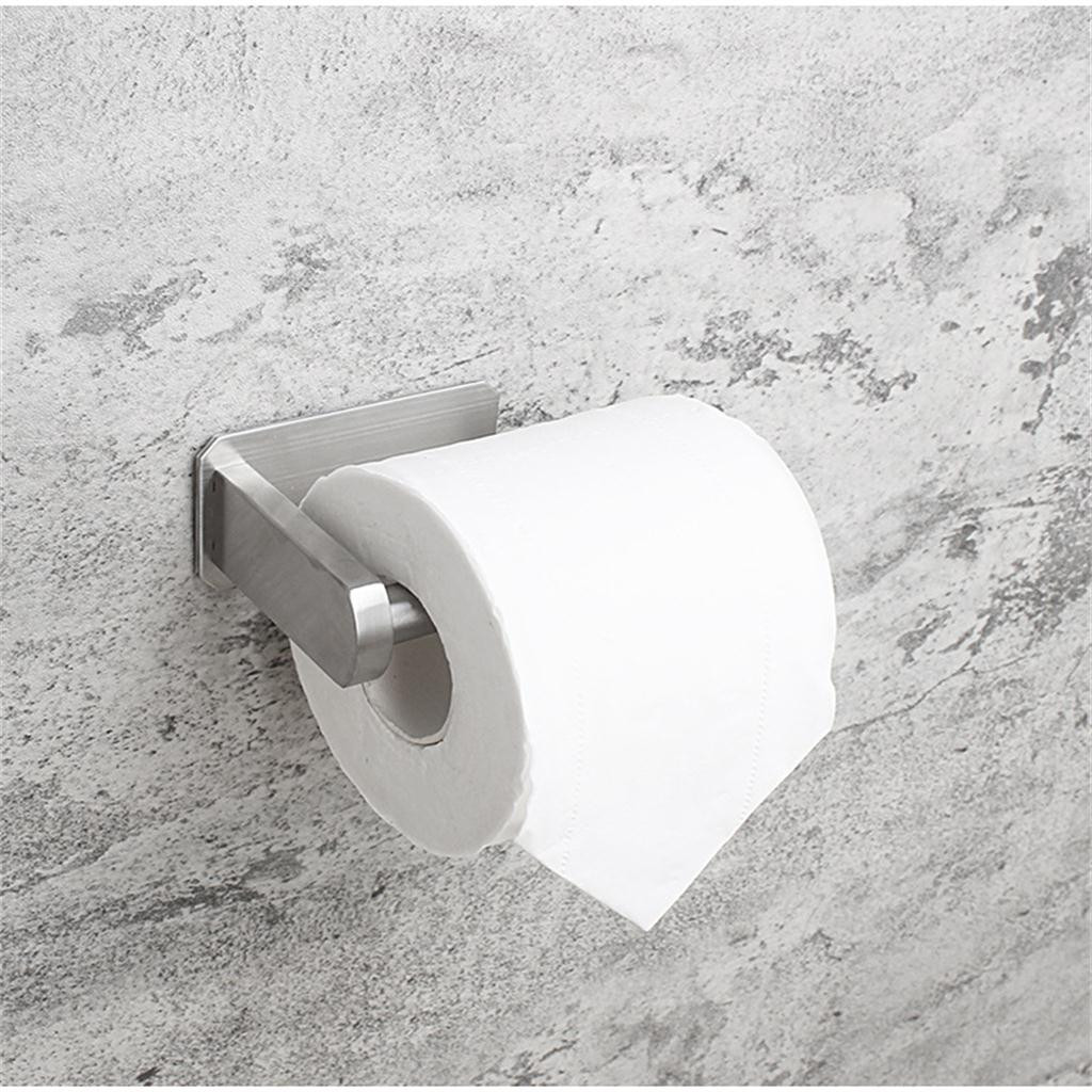 Self Adhesive Stainless Steel Bathroom Toilet Kitchen Towel Paper Roll Holder Q
