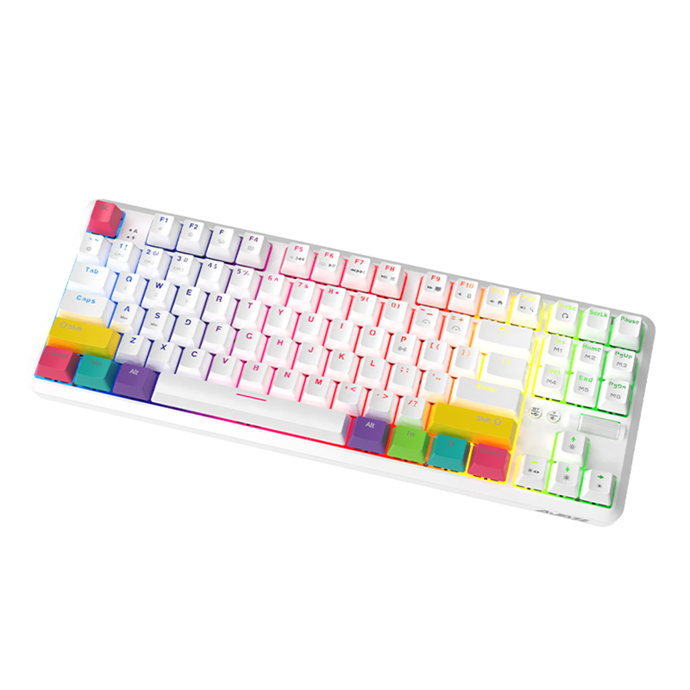 bluetooth duplo modo recarregável rgb retroiluminado teclado