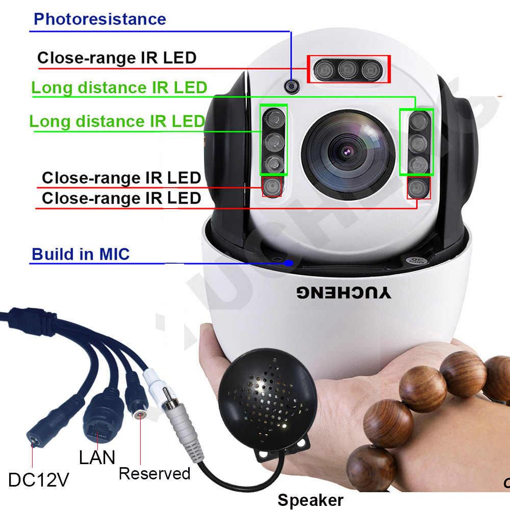 كاميرا CamHi PoE 1080P 30X zoom 2MP تعمل بالإنسان مسار آلي سوني IMX 307 PTZ كاميرا IP ذات قبة عالية بسرعة بناء مكبر صوت 32 64 128gb SD