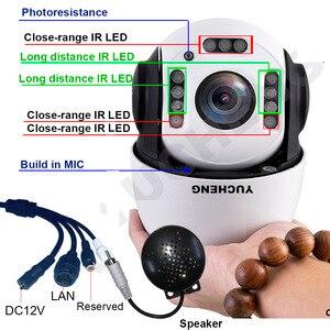 Image 2 - CamHi PoE 1080P 30X zoom 2MP insansı otomatik parça SONY IMX 307 PTZ hız Dome IP kamera dahili MIC hoparlör 32 64 128gb SD