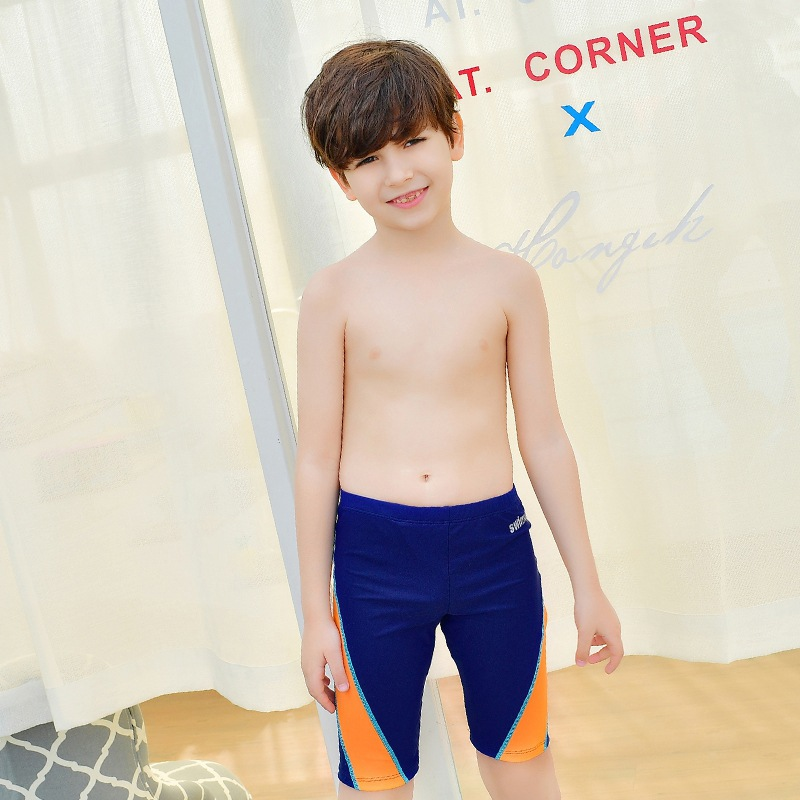 2017 New Style KID'S Swimwear BOY'S Big Boy 6-15-Year-Old Solid Color Joint Short AussieBum