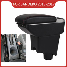 CAR ARMREST FOR RENAULT DACIA LOGAN SANDERO 2013-2017 Car Accessories Console Box Center Arm Rest With Cup Holder Ashtray armrest for renault logan 2004 2019 car arm rest central console leather storage box ashtray accessories car styling