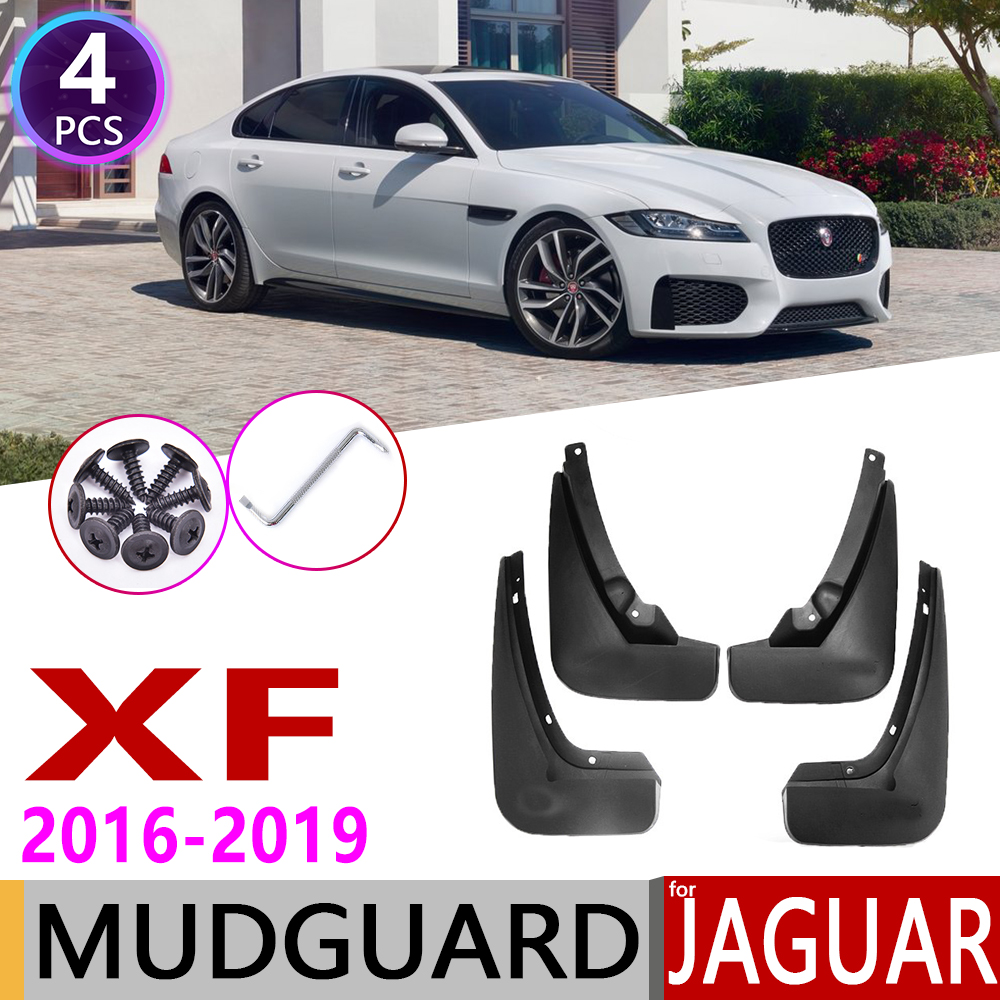 4 PCS Front Rear Car Mudflaps For Jaguar XF X260 260 2016~2019 Fender Mud Flap Guard Flaps Mudguards Accessories 2017 2018