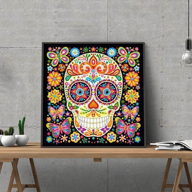 DIY Luminous Special shaped Diamond Painting Skull 5D Crystal Lighting Diamond Embroidery Cross Stitch Kit Home