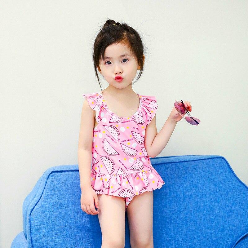 KID'S Swimwear Girls Fashion Cute Stereo Flower Split Type Bikini Princess Skirt Two-Piece Set CHILDREN'S Swimsuit